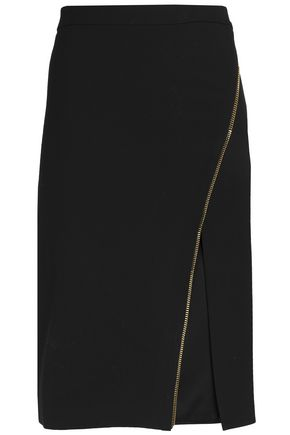 MICHELLE MASON Zip-detailed cady skirt