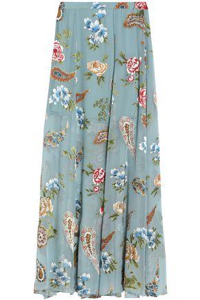 ALICE+OLIVIA Athena fil coupé maxi skirt