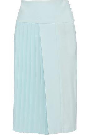 ADAM LIPPES Asymmetric pleated cady skirt