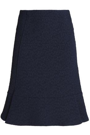 ROLAND MOURET Fluted jacquard skirt