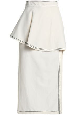 STELLA McCARTNEY Asymmetric layered twill midi skirt