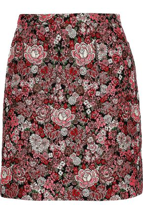 ADAM LIPPES Brocade mini skirt