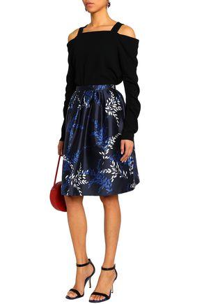 d9738b748484 OSCAR DE LA RENTA Printed cotton and silk-blend twill skirt