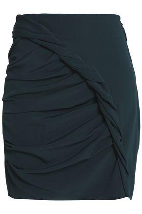 CARMEN MARCH Gathered crepe mini skirt