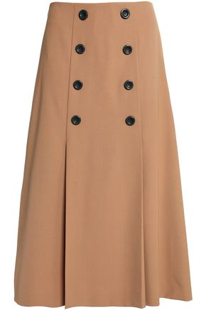 RAOUL Flared crepe midi skirt