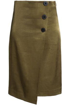 BY MALENE BIRGER Asymmetric satin midi skirt