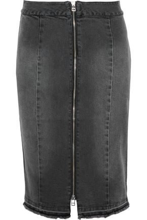 BY MALENE BIRGER Frayed denim skirt