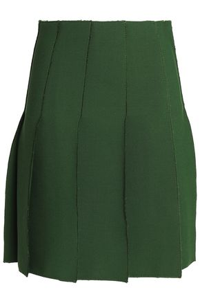 EMILIO PUCCI Pleated wool skirt