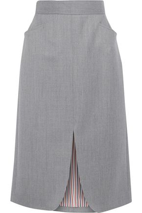 THOM BROWNE Split-front wool skirt