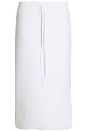 DKNY Ribbed cotton midi skirt