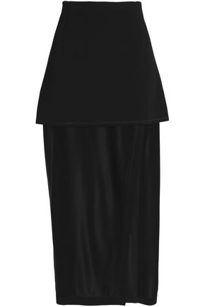 DKNY Layered crepe maxi skirt