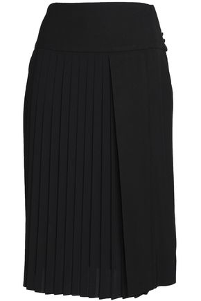 ADAM LIPPES Asymmetric pleated cady skirt