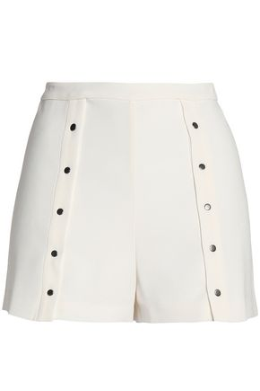 HAUTE HIPPIE Studded crepe shorts
