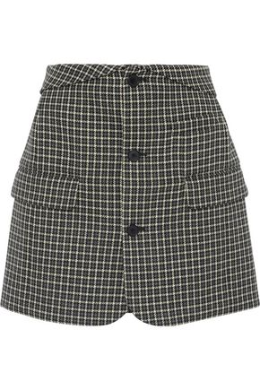 HELMUT LANG Houndstooth wool mini skirt