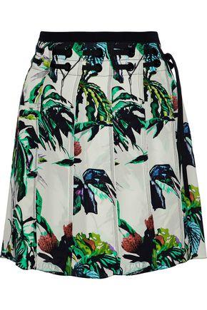 PROENZA SCHOULER Pleated printed silk crepe de chine mini skirt