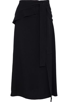 PROENZA SCHOULER Wrap-effect crepe midi skirt