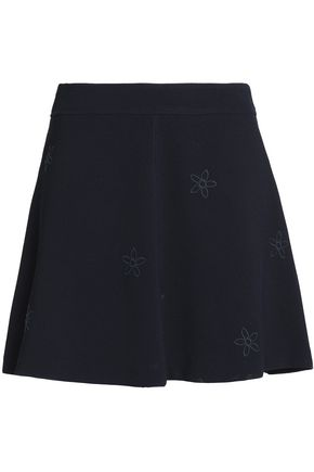 SEE BY CHLOÉ Embroidered crepe mini skirt