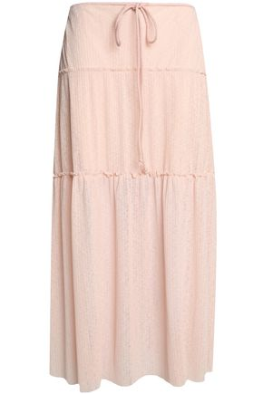 SEE BY CHLOÉ Tiered crinkled-gauze maxi skirt