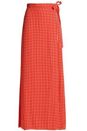 PREEN by THORNTON BREGAZZI Gingham twill maxi wrap skirt