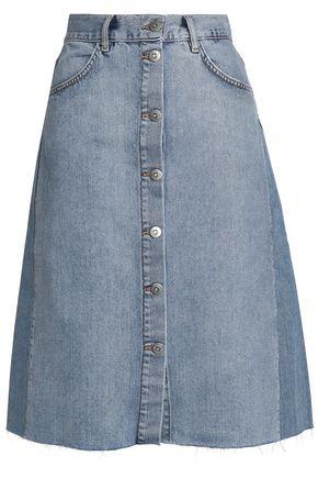 M.I.H JEANS Two-tone denim skirt