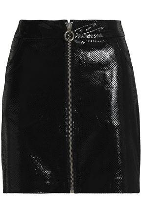 ZOE KARSSEN Snake-effect patent-leather mini skirt