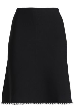 ALEXANDER WANG Crystal-embellished ponte mini skirt