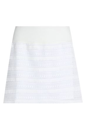 BAILEY 44 Fringed guipure lace mini skirt