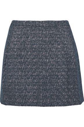 VERSUS VERSACE Metallic cotton-blend jacquard mini skirt
