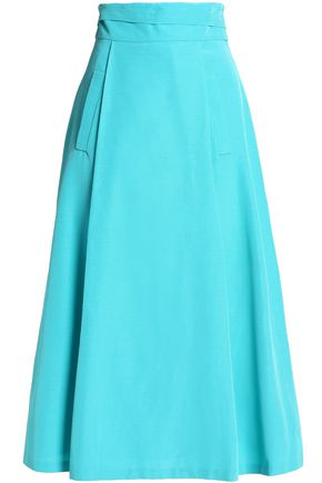 OSCAR DE LA RENTA Cotton-blend midi skirt