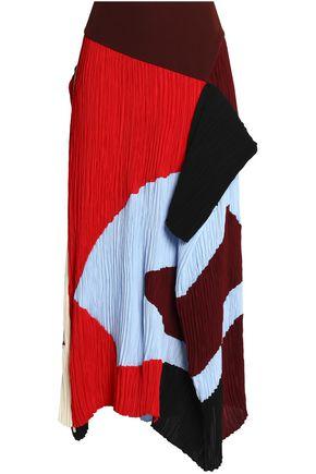 ROKSANDA Calda color-block plissé crepe midi skirt