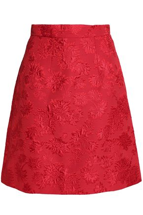 DOLCE & GABBANA Matelassé cotton and silk-blend skirt