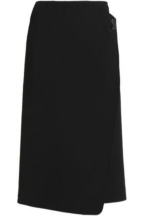 JOSEPH Stretch-knit wrap skirt