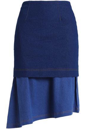PAPER London Asymmetric layered denim skirt