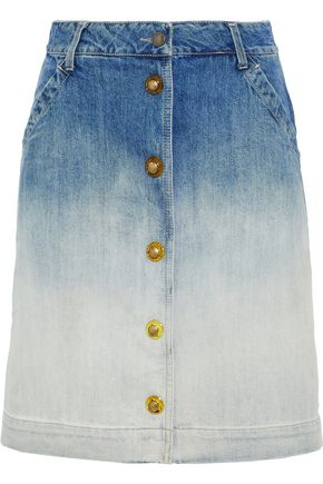TOMAS MAIER Dégradé denim skirt