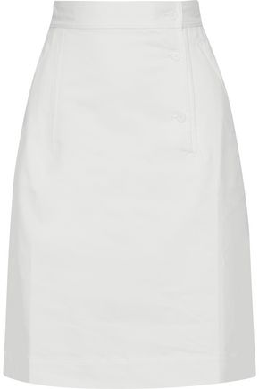TOMAS MAIER Cotton-blend twill skirt