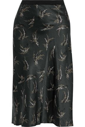 VINCE. Printed silk skirt
