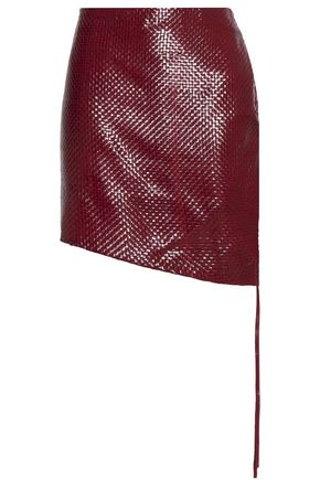 MAGDA BUTRYM Santa Maria woven leather mini skirt