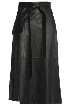 ALEXIS Nita leather wrap skirt