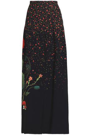 VILSHENKO Printed crepe maxi skirt