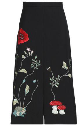 VILSHENKO Embellished felt midi skirt