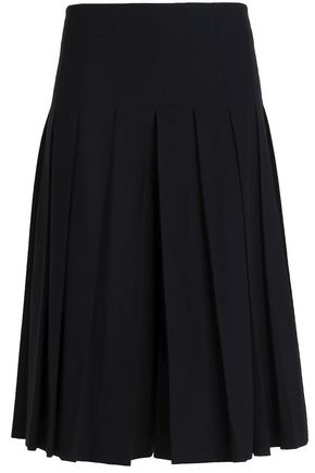 JOSEPH Rita pleated wool-blend culottes