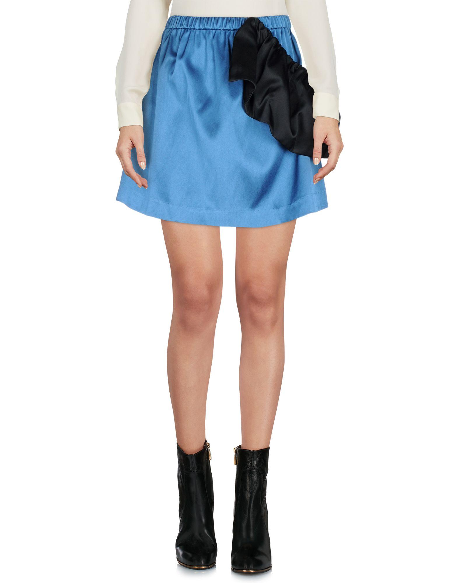 EDIT Mini Skirt in Pastel Blue