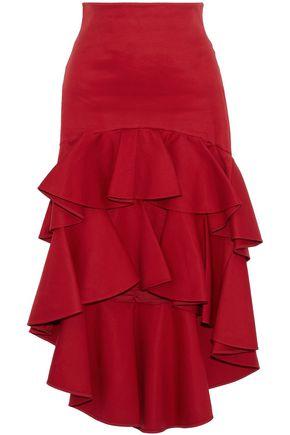ALEXIS Kristyn ruffled cotton-twill skirt