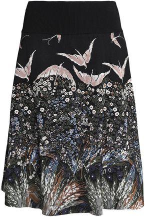 VALENTINO Jacquard-knit skirt