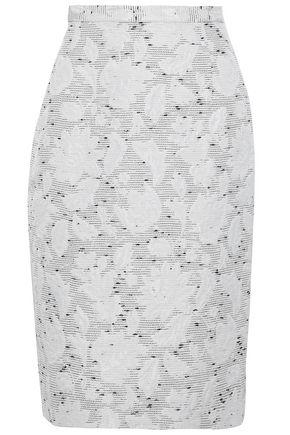 OSCAR DE LA RENTA Bouclé-knit skirt