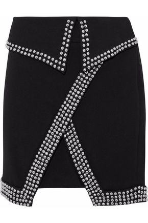 L'AGENCE Amelie studded cady mini skirt