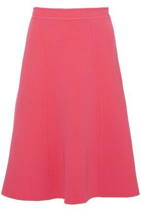 OSCAR DE LA RENTA Flared wool-blend skirt