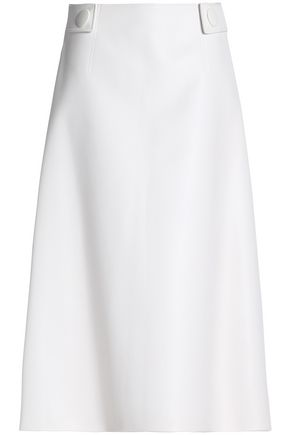 MARNI Flared faux leather midi skirt