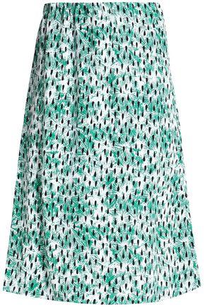 MARNI Printed cady skirt