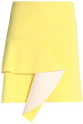 MARNI Draped neoprene mini skirt